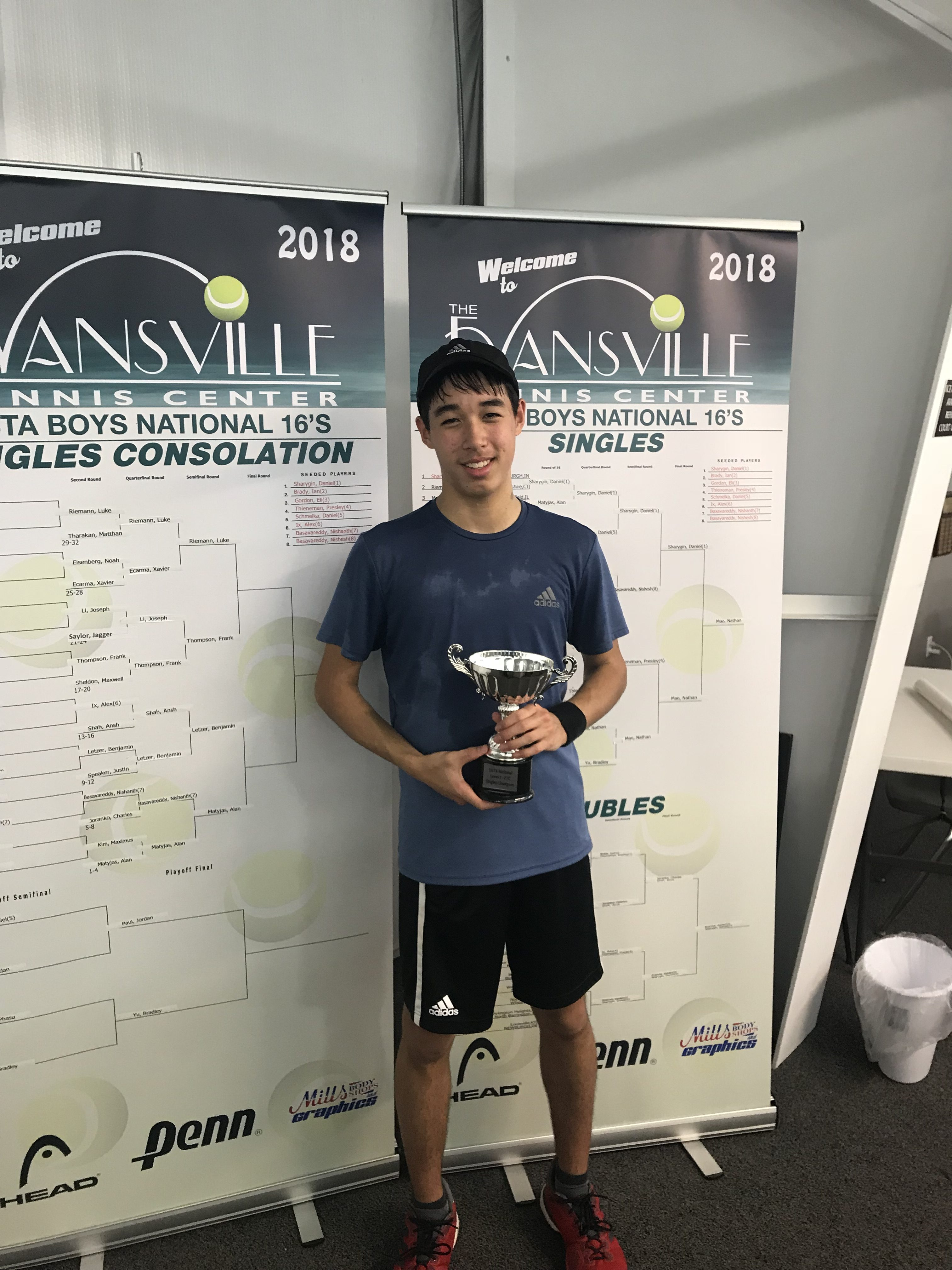 Mao Wins Singles Title – Sharygin Takes Doubles